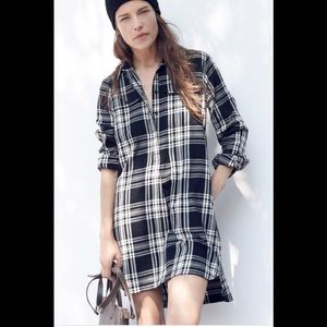 Madewell Daywalk Shirtdress Glendale Plaid Flannel